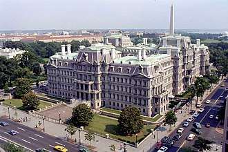 Second Empire architecture in the United States and Canada - Alfred B. Mullett's former State, War and Navy Building,, Washington, D.C., begun during the Grant administration and built between 1871 and 1888.