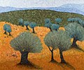 Old Olive Trees Painting by Moshe Kassirer.jpg