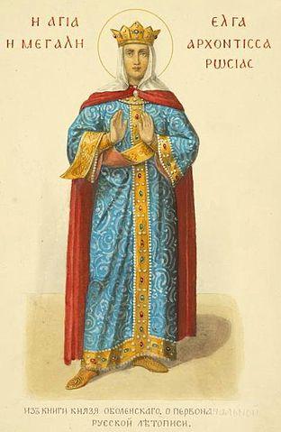 Архонтисса Ольга. Рисунок из старой книги