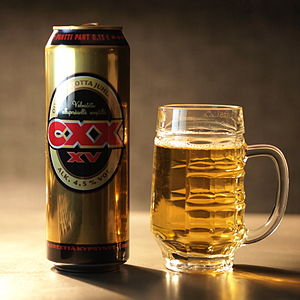 Olvi - Can of Finnish Olvi beer.