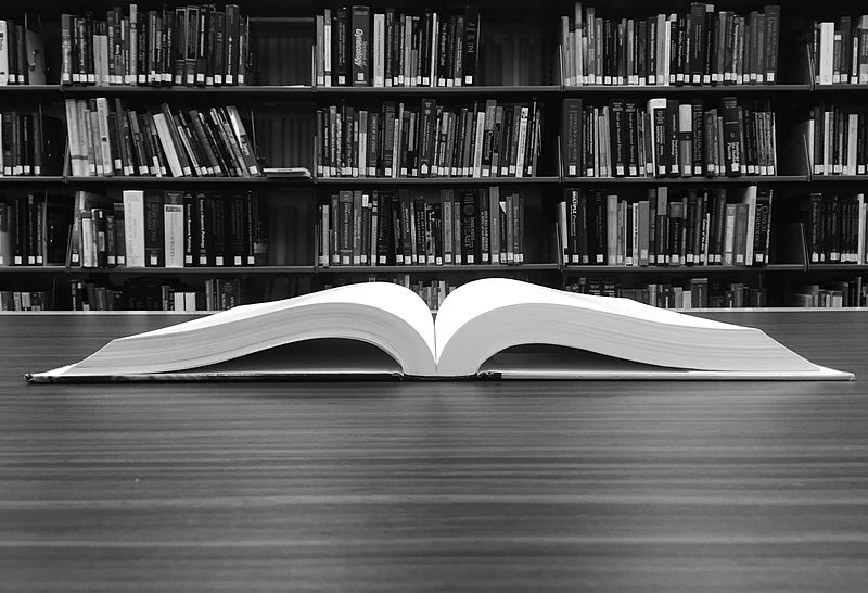 File:Open Book B&W.jpg