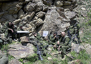 Operation Apollo - Princess Patricia's Canadian Light Infantry soldiers at a command post in Tora Bora during Operation TORII