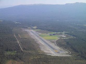 Oppdal Airport, Fagerhaug - Image: Oppdal Airport aerial