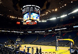 Oracle Arena - An interior view of Oracle Arena.