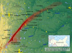 Kyshtym disaster - Image: Ostural Spur