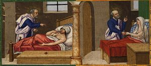 Page 238v: St. Peter heals Aeneas / St. Peter ...
