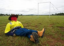 Outback Joe relaxes at the 2010 UAV Challenge