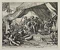 Overwonnen Turken knielen voor Leopold II, die de legertent van Kara Musataf heeft ingenomen. NL-HlmNHA 53009095.JPG