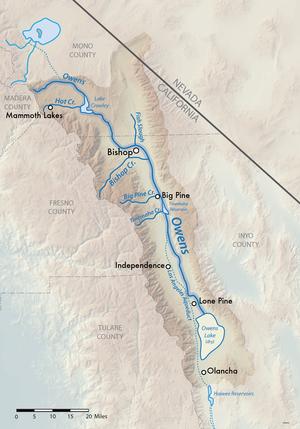 Owens River - Image: Owensmap 01