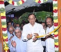 P. Chidambaram inaugurating the Kanadukathan branch of Indian Bank, in Sivaganga district, Tamil Nadu. The MLA, Shri K.R. Periyakaruppan, the CMD, Indian Bank, Shri T.M. Bhasin and the DGM.jpg