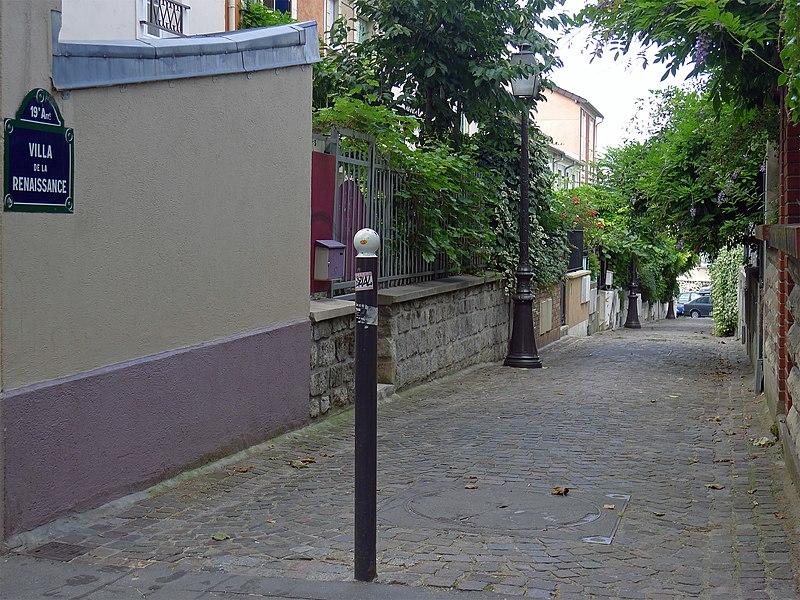 Fichier:P1200533 Paris XIX villa de la Renaissance rwk.jpg