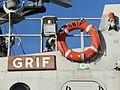 P401 Grif Name Plate and Lifebuoy Tallinn 11 February 2015.JPG