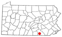 Location in Pennsylvania