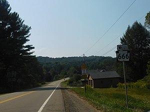 Pennsylvania Route 666 - PA 666 in Barnes