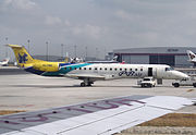 PBair Embraer ERJ 145 at Suvarnabhumi Airport (HS-PBE)