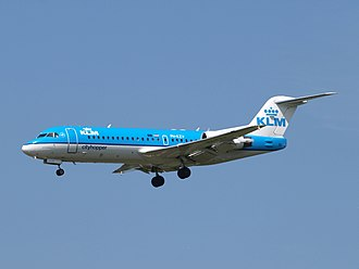 KLM Cityhopper - KLM Cityhopper Fokker 70 in the livery replaced in 2014