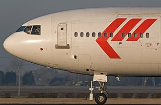 McDonnell Douglas MD-11 - Martinair MD-11CF front section with forward cargo door and windows