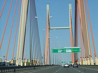 bridge in Warsaw, Poland