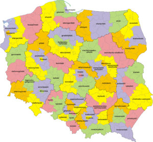 NUTS statistical regions of Poland - Former NUTS 3 divisions in Poland (from January 1, 2008 to December 31, 2014)
