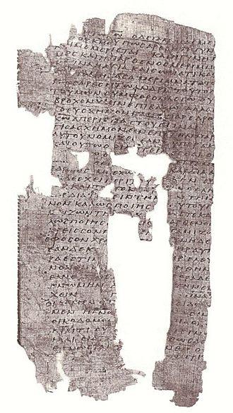 1 Corinthians 13 - Image: P Oxy 1008 (1Co 7.33 8.4)