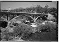 PUMPKIN HOLLOW BRIDGE ACROSS KAWEAH RIVER, FACING NORTHWEST - Generals Highway, Three Rivers, Tulare County, CA HAER CAL,54-THRIV.V,2-32.tif