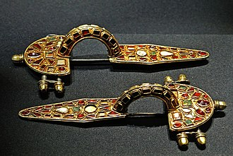 Fibula (brooch) - Germanic fibulæ, early 5th century, Kunsthistorisches Museum, Vienna
