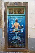 Painted door (Mermaid). Funchal, Madeira.jpg