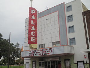 The Palace Theatre in the downtown Historic District hosts periodic community events. Palace Theatre, Seguin, TX IMG 8168.JPG