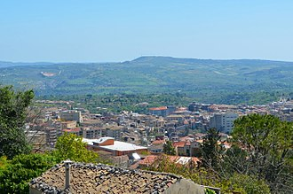 Palazzolo Acreide - View of the town from the acropolis of ancient Akrai