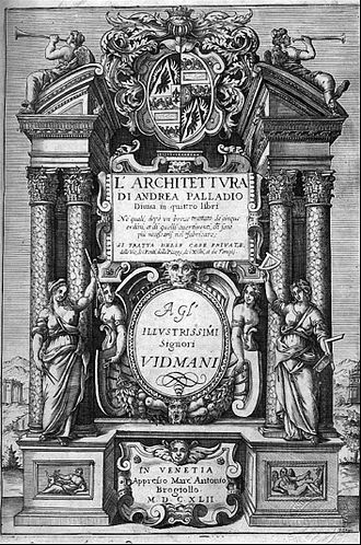 Andrea Palladio - The front page of I Quattro Libri dell'Architettura (The Four Books of Architecture)