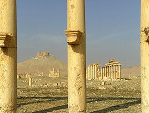 English: Palmyra in Syria in 2009.