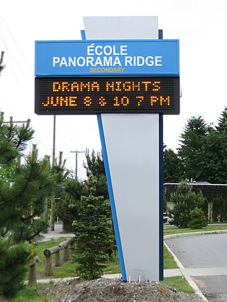 Panorama Ridge Secondary School - Image: Panorama Ridge Secondary (noticeboard)