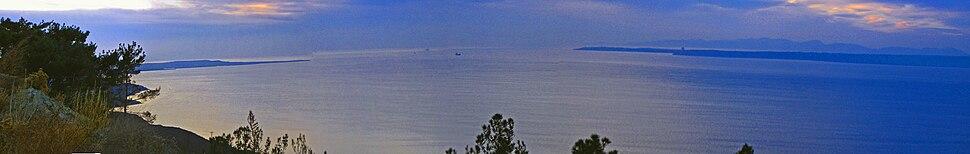 Дарданелл бұғазының панорамасы