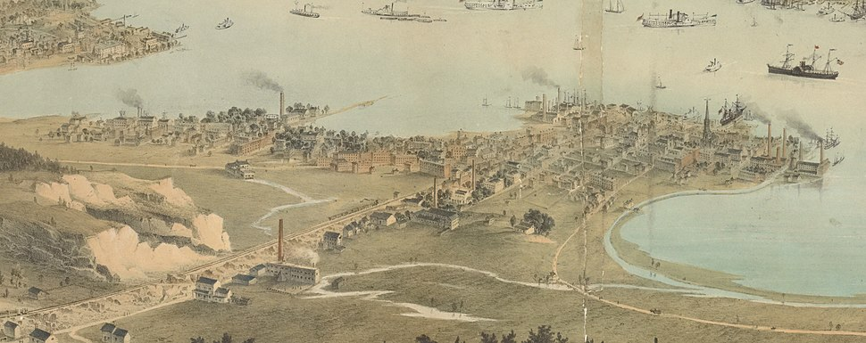 Panorama of Jersey City. (With details) (NYPL Hades-1090707-psnypl prn 1006) (cropped)