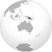Description de l'image  Papua New Guinea (orthographic projection).svg.