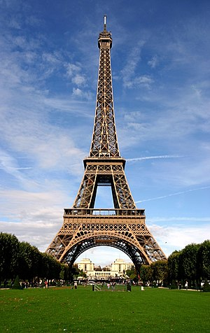 Tourist attraction - The Eiffel Tower in Paris, France, a popular tourist attraction. Almost 7 million visit the tower each year.