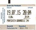 Parking ticket Wohnmobile Kronenburger See, Germany 2015.jpg