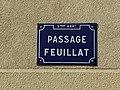 Passage Feuillat (Lyon), plaque en juillet 2018.JPG