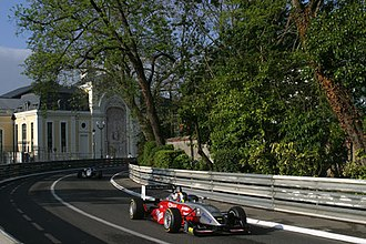 Formula Three - Átila Abreu driving for Mücke Motorsport during the 2005 Pau Grand Prix in France