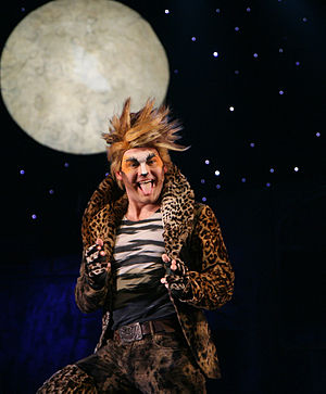Rum Tum Tugger - Paweł Podgórski as Rum Tum Tugger in the Polish production of Cats, 2007.