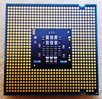 LGA 775 - The LGA 775 contacts points on the underside of a Pentium Dual-Core Conroe CPU