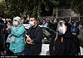 People gathering outside the Jam Hospital following the death of Mohammad-Reza Shajarian 2020-10-08 28.jpg