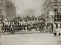 People on improvised transportation during the Streetcar Strike of 1900, at Fifteenth Street and Franklin Avenue.jpg