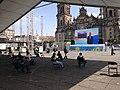 People watching 2016 Summer Olympics at Zócalo, México City.jpg