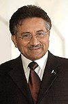 A portrait of Pervez Musharraf