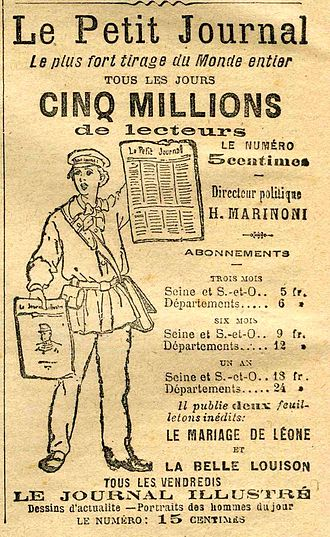 Le Petit Journal (newspaper) - In 1899 the Journal claimed 5 million readers.