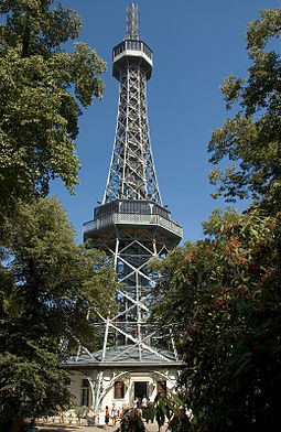 Petrin Lookout Tower, an observation tower built at Petrin hill. PetrinObservationTower.jpg