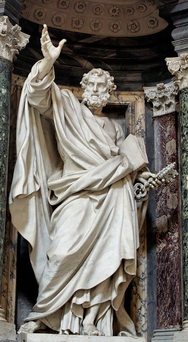 Statue of St. Peter in the Archbasilica of St. John Lateran dans immagini sacre 640px-Petrus_San_Giovanni_in_Laterano_2006-09-07