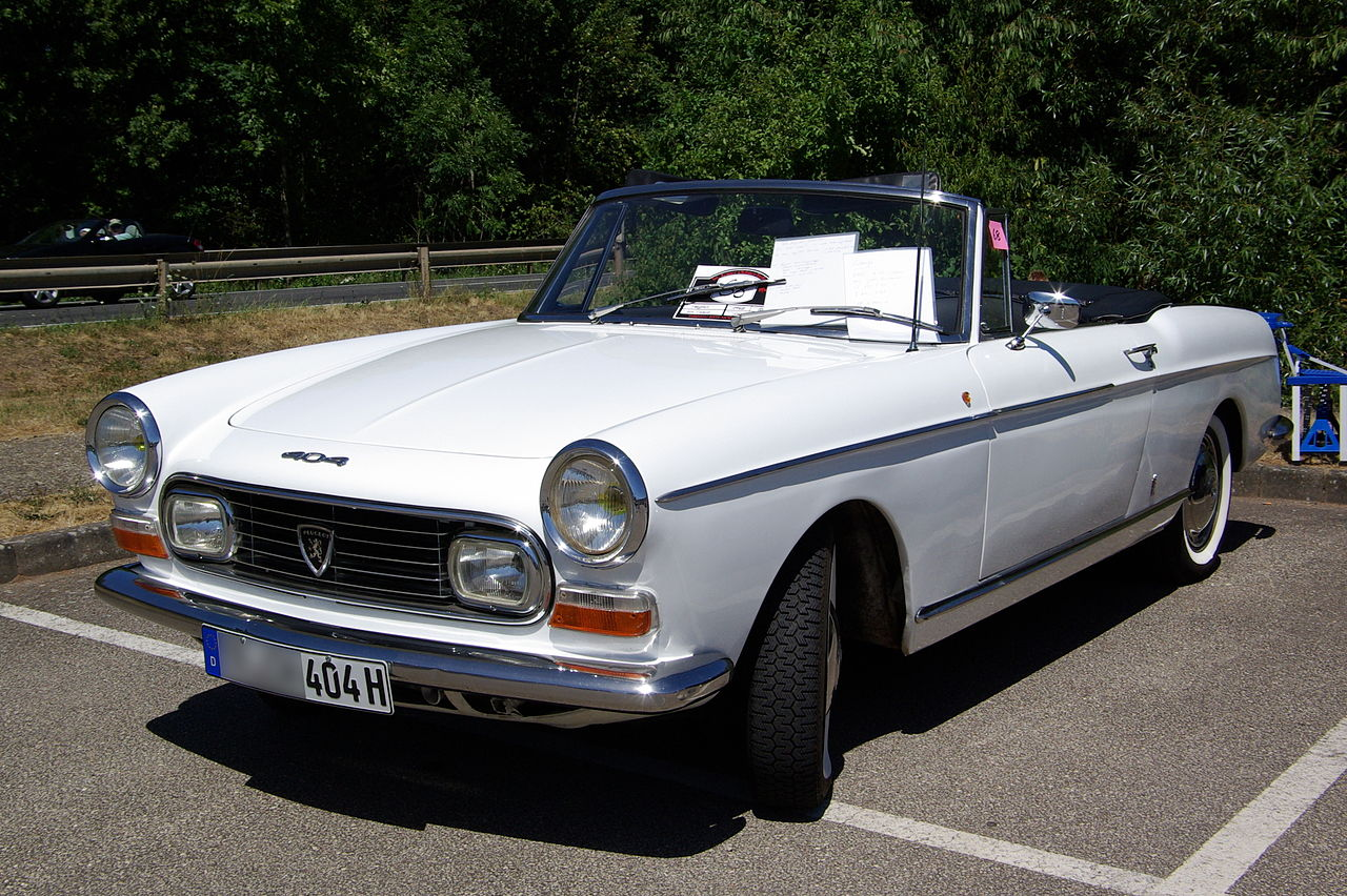 file peugeot 404 cabrio bw wikimedia commons. Black Bedroom Furniture Sets. Home Design Ideas