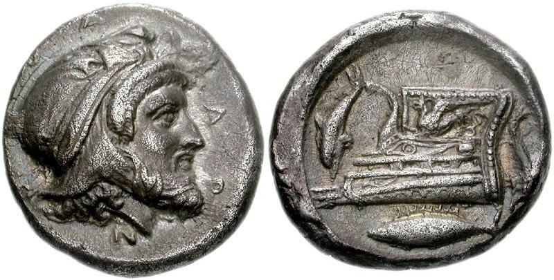Pharnabazos fish sign coin